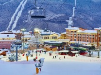 Sochi's Rosa Khutor Alpine Resort In Winter.