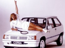 Steffi Graf und der Opel Corsa 1988