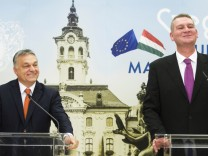 Orban Viktor met with Botka Laszlo major of Szeged who is the prime minister candidate of the Hungar