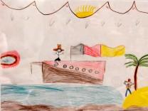 Starnberg: Sparkasse Ausstellung 'Bilder von Flüchtlingskindern'