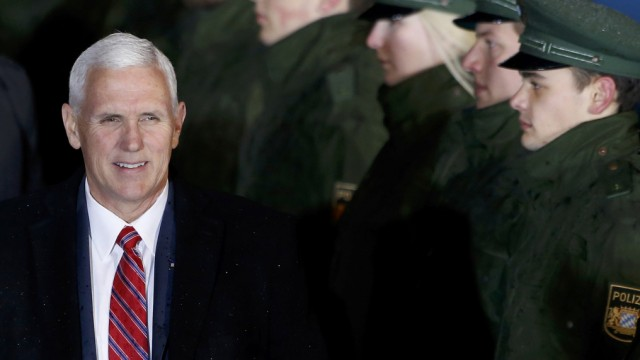 U.S. Vice President Pence arrives in Munich