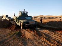 Irakische Truppen bringen sich für die Offensive aufWest-Mossul in Stellung
