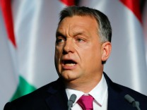 Hungarian Prime Minister Viktor Orban speaks during his state-of-the-nation address in Budapest