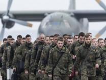 Ankunft von 70 Bundeswehrsoldaten in Litauen