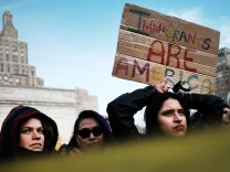 Activists Demonstrate Against President Trump's Immigration Ban