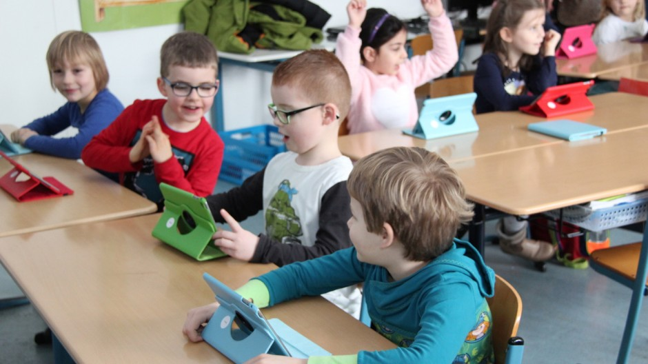 Tablet-Klasse der Grundschule Hennef in Nordrhein-Westfalen