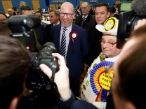UKIP leader Paul Nuttall reacts after losing the Stoke Central by-election in Stoke on Trent