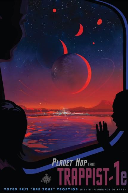 Astronomie Entdeckung von Trappist-1