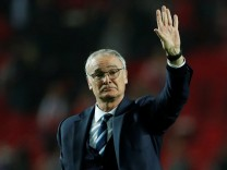 FILE PHOTO Leicester City manager Claudio Ranieri after the match