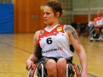 Lisa Nothelfer USC München Rollstuhlbasketball 2 BL USC München weiss BSC Rollers Zwickau; Rollstuhlbasketball