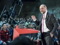 Martin Schulz Campaigns In Leipzig