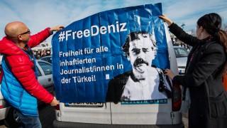 Solidaritätsaktion für in Türkei inhaftierten Journalisten