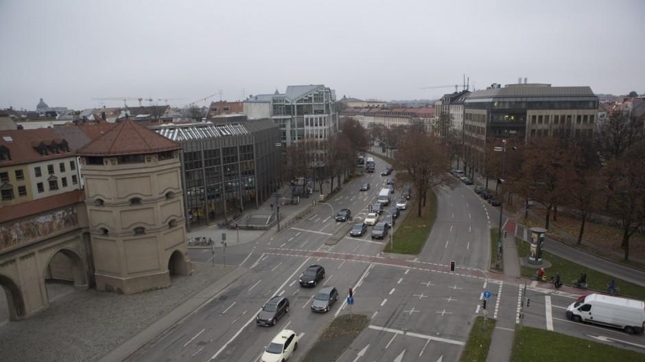Isartor und Altstadtring in München, 2016