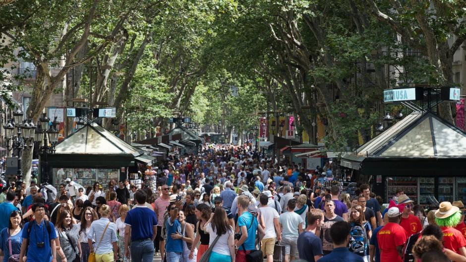Barcelona Ramblas Europa Spanien Barcelona Katalonien Stadt city katalonische katalan La R