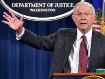 US Attorney General Jeff Sessions hold a press conference