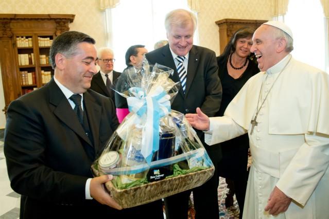 Horst Seehofer besucht den Vatikan