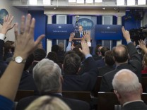 White House Press Secretary Sean Spicer takes questions during the daily press briefing at the White