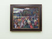 Das Bild: Wassiliy Kandinsky, Das Bunte Leben, 1907, im Lehnbachhaus (mitte)