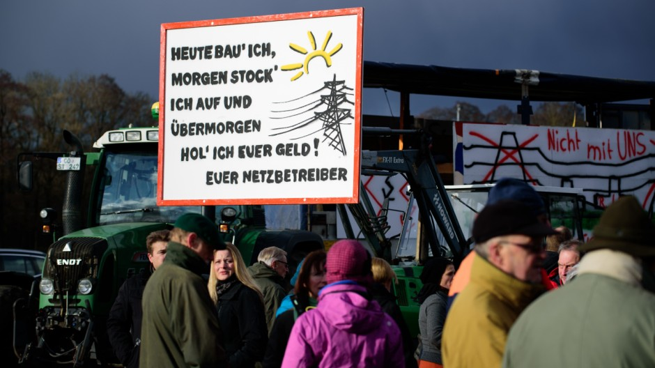 Demonstration gegen Stromtrassen in Rödental
