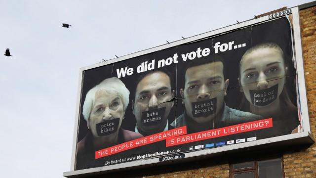 Anti-brexit Billboards Appear Across The UK