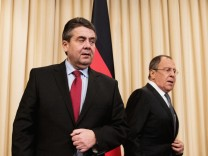 Antrittsbesuch von Auï¬'enminister Gabriel in Russland