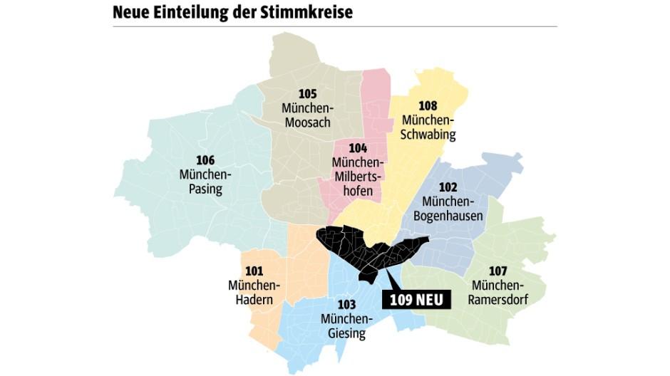 Süddeutsche Zeitung München Neuer Stimmkreis