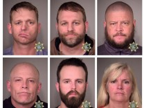 Inmates are seen in police jail booking photos released by the Multnomah County Sheriff's Office