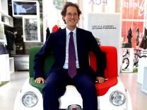 John Elkann private visit at Expo 2015 World Fair in Milan