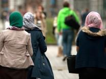 Frauen mit Kopftuch in Belgien