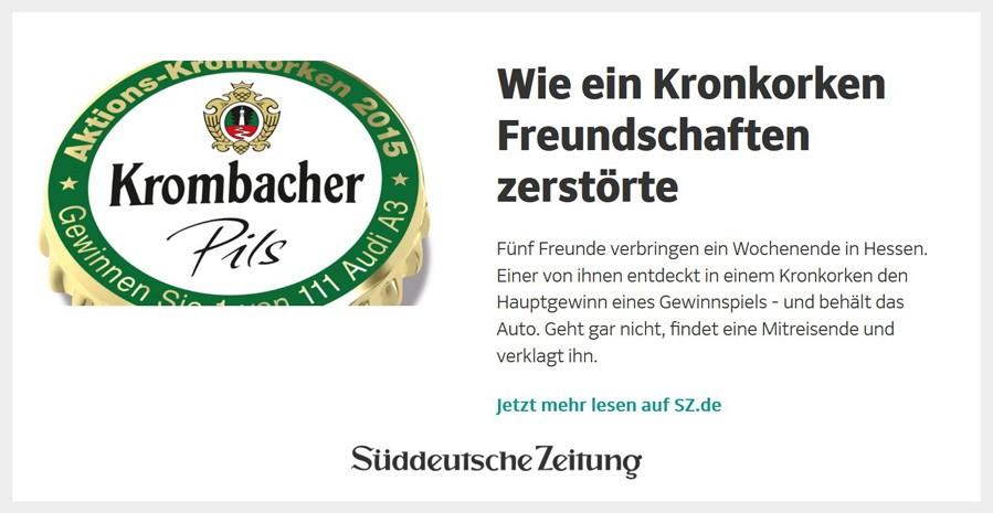 SZ.de Infoscreen