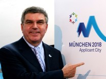 Munich Presents Logo For Olympic Winter Games 2018; Thomas Bach