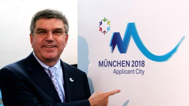 Munich Presents Logo For Olympic Winter Games 2018; Thomas Bach