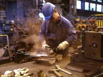 Stahlherstellung im Stahlwerk Annahütte in Hammerau, 2014