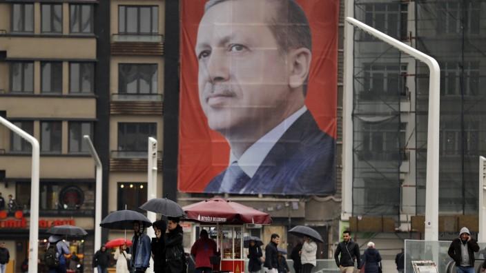 Istanbul - Erdogan-Plakat
