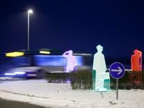 Kreisverkehr Garching, Kreuzung Freisinger Landstraße, Untere Straßäcker