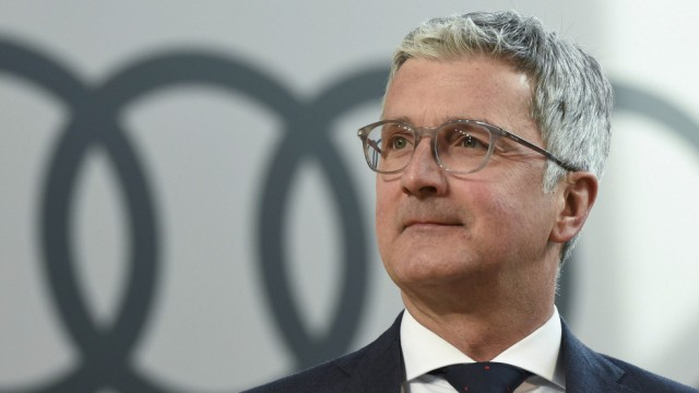 Audi CEO, Rupert Stadler arrives for the company's annual news conference in Ingolstadt