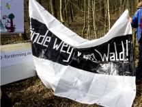Forstinning Protest gegen Ortsumfahrung.; Forstinning Demo