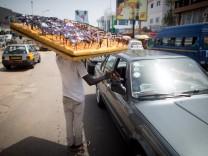 Straßenverkauf in Ghana