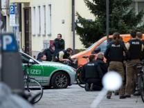 Großeinsatz der Polizei in München Maxvorstadt