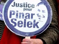 Solidaritätsbekundung für Pinar Selek im Jahr 2012.