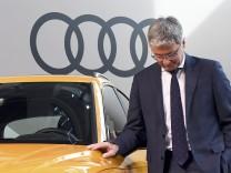 Audi CEO, Rupert Stadler arrives for the company's annual newsconference in Ingolstadt