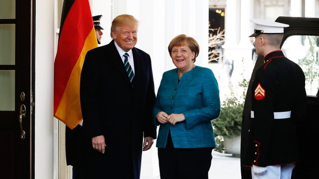 Donald Trump, Angela Merkel