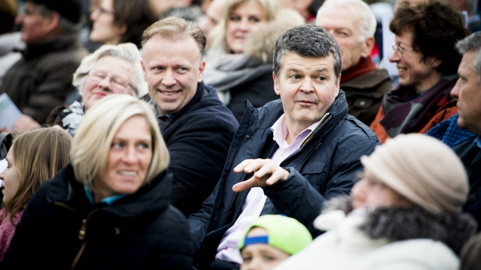 Mechelen mayor Bart Somers pictured during the premiere of Miniaturen of Royal De Luxe artistic comp