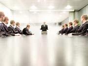 Manager in einer Konferenz