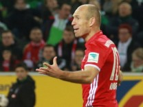 19 03 2017 xkvx Fussball 1 Bundesliga Borussia Moenchengladbach FC Bayern Muenchen emspor v l; Arjen Robben