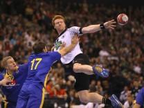 Foto Nicolai Theilinger Deutschland gegen Helge Freiman Handball Länderspiel am So 19 03 2017