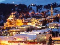 Nacht in St Moritz, Schweiz