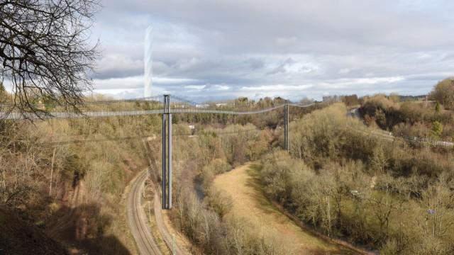 Geplante Fußgänger-Hängebrücke Rottweil
