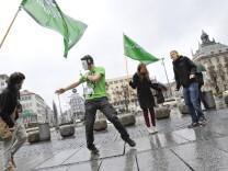 Protestaktion am Stachus gegen das Karfreitags-Tanzverbot,  München 2012
