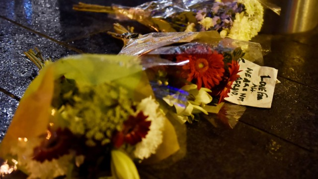 Flowers are laid at the scene after an attack on Westminster Bridge in London